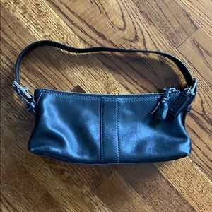Coach Baguette Leather Buckle Bag